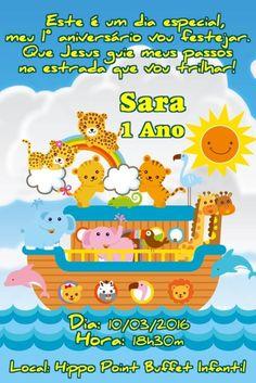 Convite digital personalizado Arca de Noé