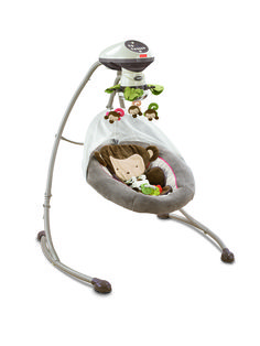 fisher price swing - so in love with this little monkey:)