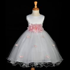 Vestido Blanco/Rosa
