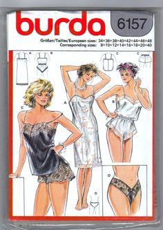 Burda 6157 Slip Teddy Camisole Undies Shorts & by CarolinesCurio, $12.00