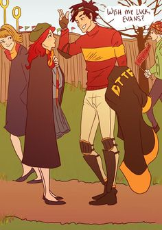 james potter and lily evans book excerpt Harry Potter Comics, Harry Potter World, Arte Do Harry Potter, Harry Potter Ships, Yer A Wizard Harry, Harry Potter Love, Harry Potter Fandom, Harry Potter Universal, Harry Potter Memes