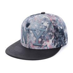 Baseball Cap Hip Hop Snap Back Adjustable Waterproof Sports Cap Black and White