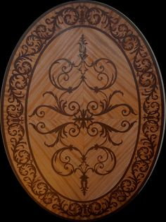 Marquetry | HArdwood floor medallions and borders Venetian Oval