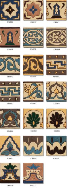 Zócalo de azulejos cuerda seca estilo rústico modelo 8054 Paper Clay, Clay Art, Kitchen Tile Diy, Tile Crafts, Spanish Tile, Floor Art, Border Design, Star Patterns, Tile Design