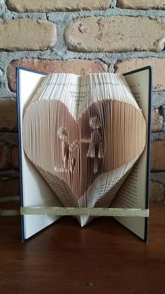 Proposal and Heart Folded Book Art Pattern PDF Book by Foldilocks