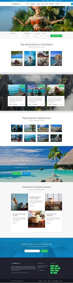 Travel Time is a perfect #WordPress theme for all sorts of #travel, hotel and #vacation agency #websites. Download Now!