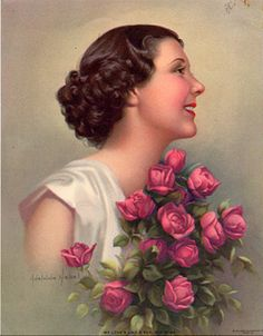 Adelaide Hiebel (1886 – 1968) My Love's Like A Bunch Of Roses