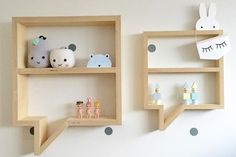 The lovely bubble shelf creation from Mr Shelfie Designs has sleek scando-esque stylings, without the hefty price tag. It is the perfect place to store tiny treasures and keep them out of tiny mouths.