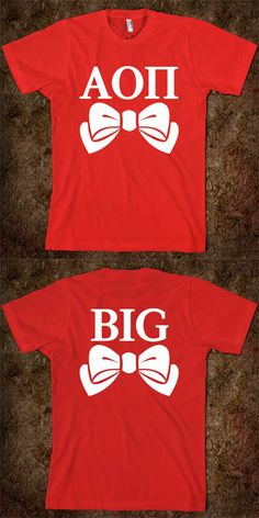 Alpha Omicron Pi - Big Sis Little Sis Reveal Tee - CLICK HERE to purchase :) Buy 1 or 100!