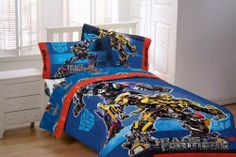 Transformers TransGear Twin Comforter by Transformers. $54.99. Measures 64 by 86-inch. Imported. Coordinates with the sheet sets. Comforter features Optimus Prime and Bumble Bee. 55-Percent cotton, 45-percent polyester; machine wash and dry. Poly/cotton comforter.
