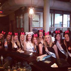 Minnie Mouse themed hen bachelorette party!! Xxx