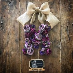 A personal favorite from my Etsy shop https://www.etsy.com/listing/512029846/custom-floral-letter-hospital-door