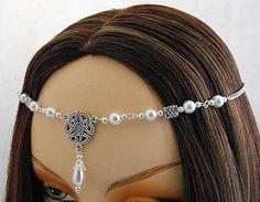 Pearl Celtic Triquetra Medieval Wedding Tiara Circlet 1416 Colleen LARP SCA | eBay