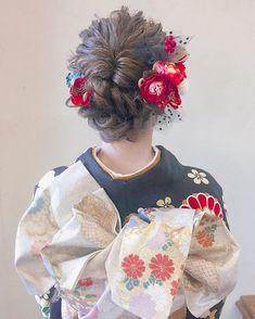 Kimono Japan, Japanese Kimono, Traditional Hairstyle, Japanese Wedding, Hair Arrange, Japanese Hairstyle, Bridal Mehndi Designs, Christmas Hairstyles, Yukata