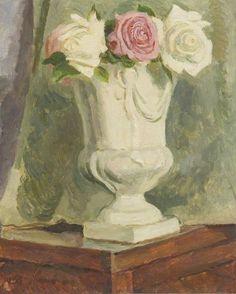 Vanessa Bell - Roses in a Vase