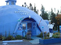"""Every state needs its kitsch, in this case, Wild Blueberry Land in Columbia Falls, ME, billed as the home of """"the world's largest blueberry."""""""