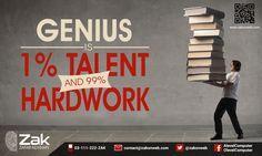 Hard-work beats talent when talent doesn't work hard. #Olevel #Alevel #ComputerScience #CIE #ZakOnWeb
