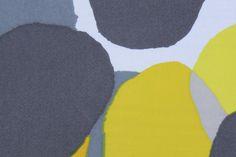 Abstract Mustard Pebble Rayon