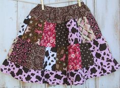 Western Cowgirl Skirt Riley Blake Saddle by CottageCutieBoutique, $34.00