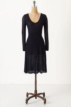 Pointelle Sweater Dress - StyleSays