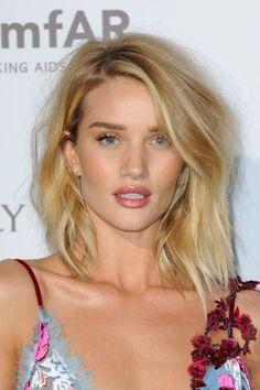 Rosie Huntington-Whiteley at the 2015 Lancôme 80th anniversary party. http://beautyeditor.ca/2015/07/11/best-celebrity-beauty-looks-karlie-kloss