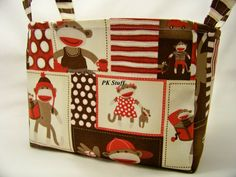 PK Fabric Basket in Monkey Around  Monkey Patch  Ready by PKStuff, $14.50