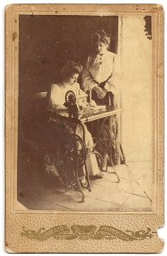 Italian Seamstress at Sewing Machine