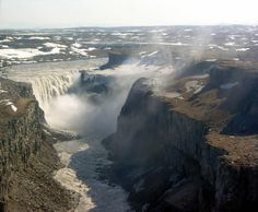 Dettifoss – Iceland -The waters of the falls comes from the nearby Vatnajökull glacier,