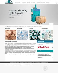 Austropressen is producing user friendly baling and waste presses. The new website contains the whole product line and infos and news about the company. Website, Paper, Cardboard Packaging, Things To Do, Products