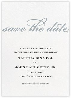 Confetti (Save the Date) - White/Silver - Paperless Post