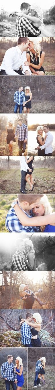 engagement picture ideas except the one where it looks like he's feeling her butt up..too personal!