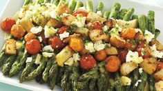 Asparagus and Tomato Salad - Harcombe Diet - Phase 2 with no bread. Fat meal (feta)
