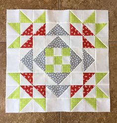 Holiday quilt block