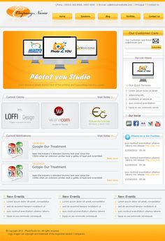 Fresh PSD Website Templates  - You can view more Templates at Just Simply