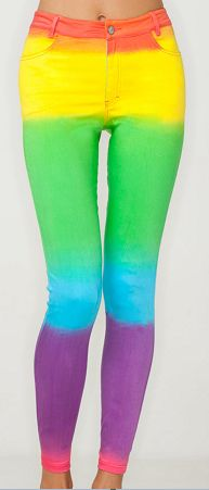 Rainbownessss...if I were young I would totally wear these! Lol