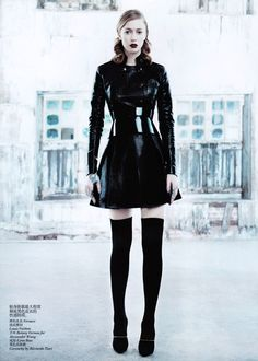 Boot Fashion: Raquel Zimmermann in Givenchy Thigh High Boots. Vogue China, 08.2011.