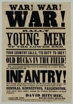 civil war recruit poster