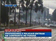 Galdino Saquarema Noticia: Polícia e professores entram em confronto no Paraná