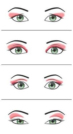 How to make up according to your eye shape.