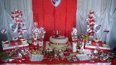 Decoración River Plate... Ideas Para Organizar, Ideas Para Fiestas, Fiesta Party, Holidays And Events, Plates, Table Decorations, Birthday, Gabriel, Party Ideas