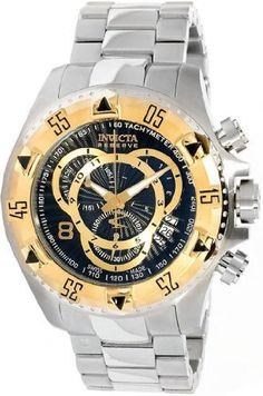Invicta 11003 Reserve Men's Excursion Swiss Made Quartz Chronograph Gold Tone Stainless Steel Bracelet Watch Invicta. $358.00. Flame Fusion Crystal. Gold Plating. ETA Swiss Quartz Chronograph Movement. Water Resistant to 660 Feet. Reserve Collection. Save 72%!