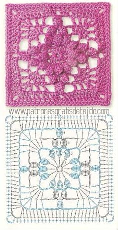 Transcendent Crochet a Solid Granny Square Ideas. Inconceivable Crochet a Solid Granny Square Ideas. Motifs Granny Square, Granny Square Crochet Pattern, Crochet Blocks, Crochet Diagram, Crochet Stitches Patterns, Crochet Chart, Crochet Squares, Knitting Patterns, Granny Squares