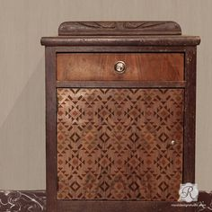 Paint Patterns on Dresser Drawers and Cabinet Doors with Western Design and Rustic Geometric Furniture Stencils - Royal Design Studio