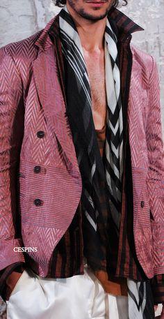 "monsieurcouture: "" Hairder Ackermann S/S 2015 Menswear Paris Fashion Week "" Quirky Fashion, Mens Fashion, Fashion Outfits, Gypsy Style, My Style, Latest Fashion Trends, Fashion 2015, Look Boho, Sharp Dressed Man"