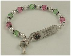 Medical ID Bracelets for women.  Love these, wish there was one for a man and his ego.