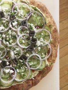 Mediterranean Hummus Pizza.