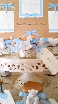 Battesimo shabby chic - Bomboniere coccolose - Barattoli portaconfetti - Le Cose di Eva