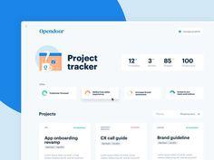 Project Tracker Dashboard by Nicolas Solerieu - Solid UX via Dribbble Web Design & Web Development Dashboard Ui, Dashboard Design, Ui Ux Design, Intranet Design, User Interface Design, Form Design, Menu Design, Web And App Design, Design Websites