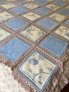 Crochet Quilt Pattern, Crochet Square Patterns, Crochet Fabric, Crochet Afghans, Crochet Blanket Patterns, Crochet Crafts, Crochet Projects, Stitch Patterns, Crochet Squares