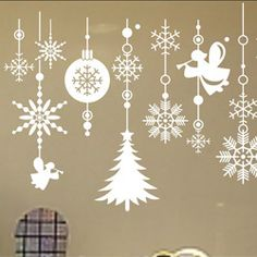 SIZE:1000 x 750mm merry christmas tree snow door wall glass window sticker decoration decal quotes kids room decoration stickers